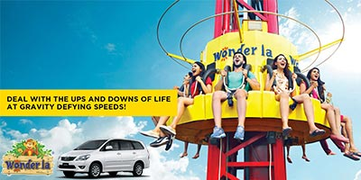 Weekdays Private Tour: Wonderla Hyderabad 1 Day Tour by 'AC Car / Bus / Vehicle'